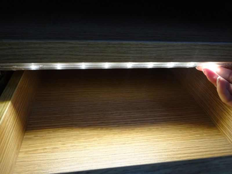 Caravan ledw re lighting led lade kast lampje met for Bewegingssensor voor led verlichting