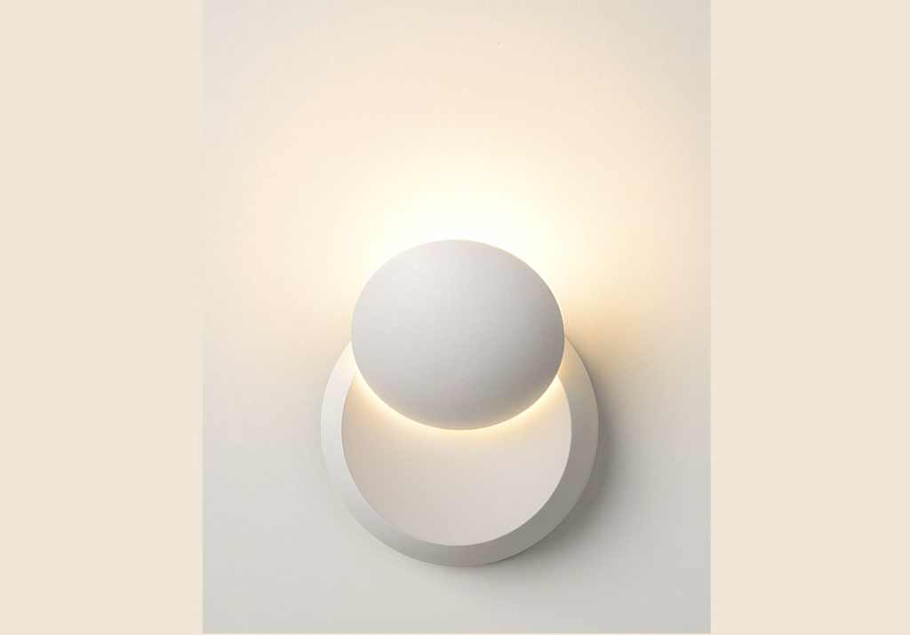 Lucide wandlamp | 1 x 4 Watt | 100 x 60 mm | LUNA-LED | Wit