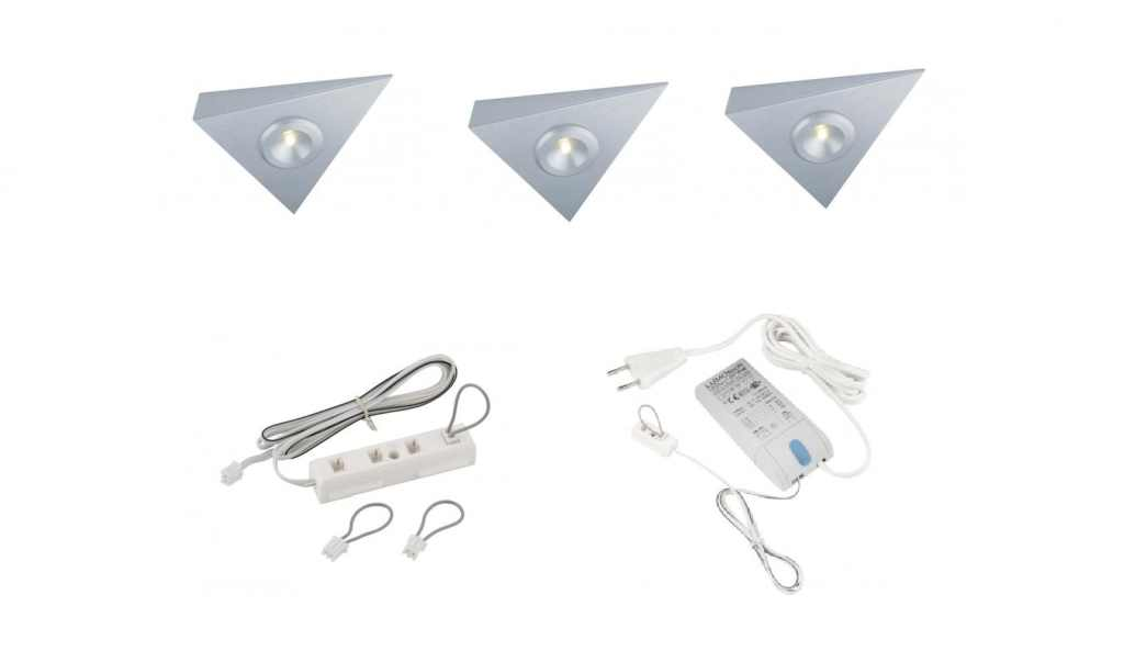 Lumoluce | Lugano | LED driehoek | 3 LED spots | Doe Zelf LED Kit | Warm Wit