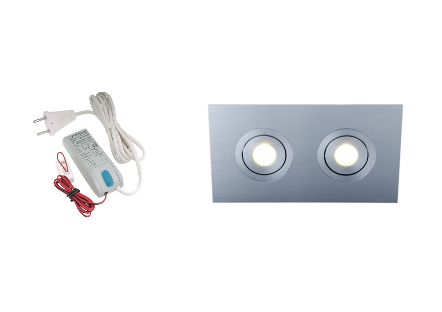 Lumoluce | Luzern | LED inbouwspot | 2 LED spots | 210 Lm | Doe Het Zelf LED Kit | Warm Wi