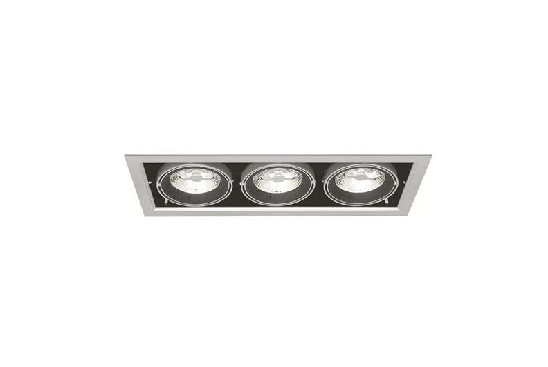 Driebubbel LED Downlight | 220 Volt | 3 x 10 Watt | Warm Wit | MD-250