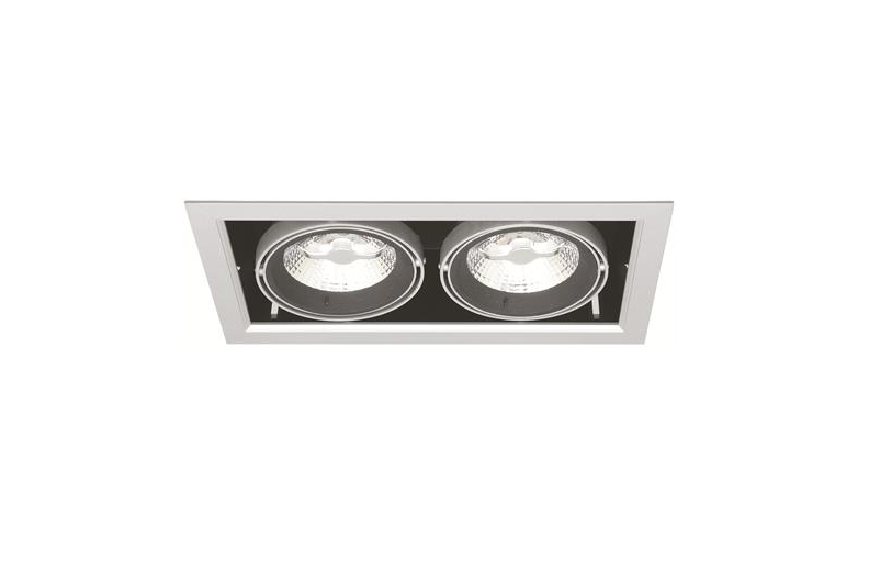 dubbele led downlight 220 volt 2 x 10 watt warm wit md