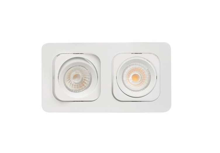 Malmbergs | LED inbouwspot | 2 LEDs | Rond | 2 x 6 W | Warm Wit (2700k) | Wit | MD-125