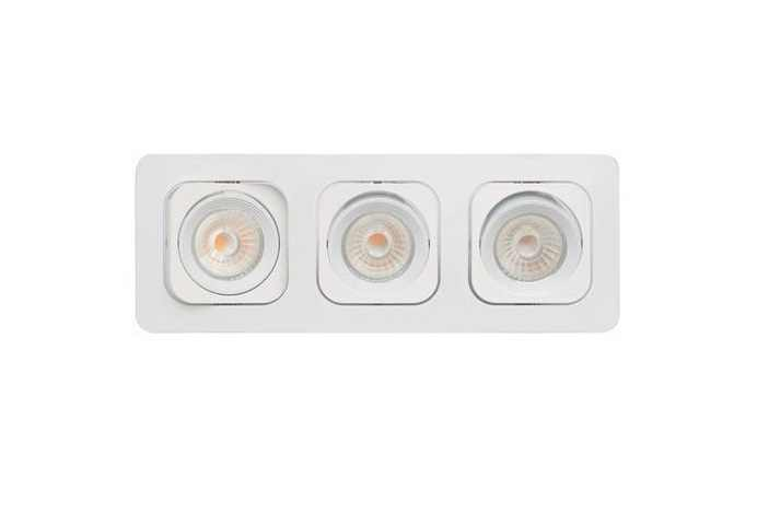 malmbergs led inbouwspot 3 leds rond 3 x 6 w warm
