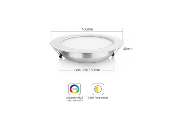 Mi-Tech | RGBW LED Downlight | 12W RGB+CCT LED