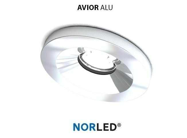 NORLED | LED inbouwspot | 1 LED | Rond | 1 W | Warm Wit | AVIOR GLANZEND ALU