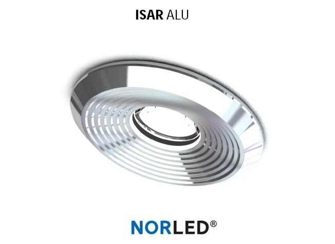 NORLED | LED inbouwspot | 1 LED | Rond | 3 W | Warm Wit | ISAR GLANZEND ALU