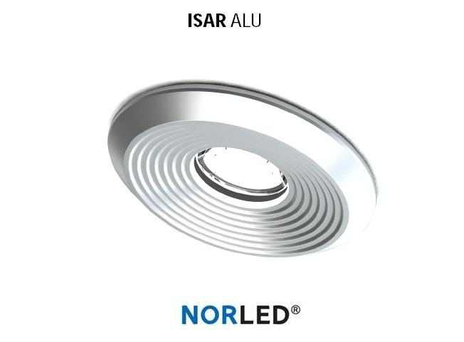 NORLED | LED inbouwspot | 1 LED | Rond | 3 W | Warm Wit | ISAR MAT ALU