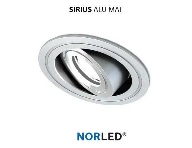 NORLED | LED inbouwspot | 1 LED | Rond | 3 W | Warm Wit | SIRIOS MAT ALU