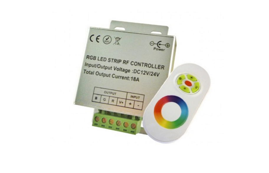 APPLE Control | White | RGB LED Controller | 3 x 6 Ampere | 12-24 Volt | RF Afstandbedieni