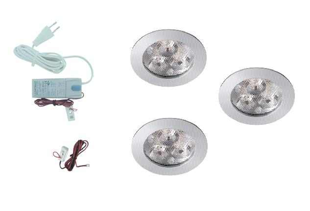 LEDware | LED inbouwspot | 3 LED spots | 210 Lm | Doe Het Zelf LED Kit | Warm Wit | 302A