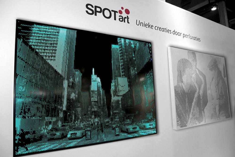 Spot-Art 2 met LED 1000x1000x50mm