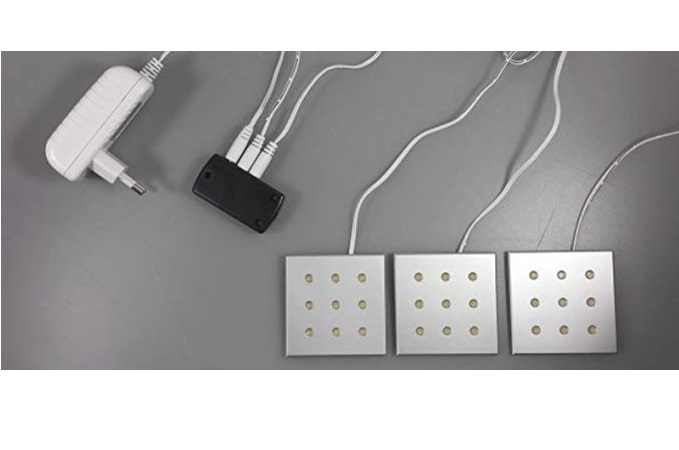 LED Kastverlichting set | 3 Lampjes | LWS68H5.WW.03 | 3 x 2,2 Watt | Vierkant