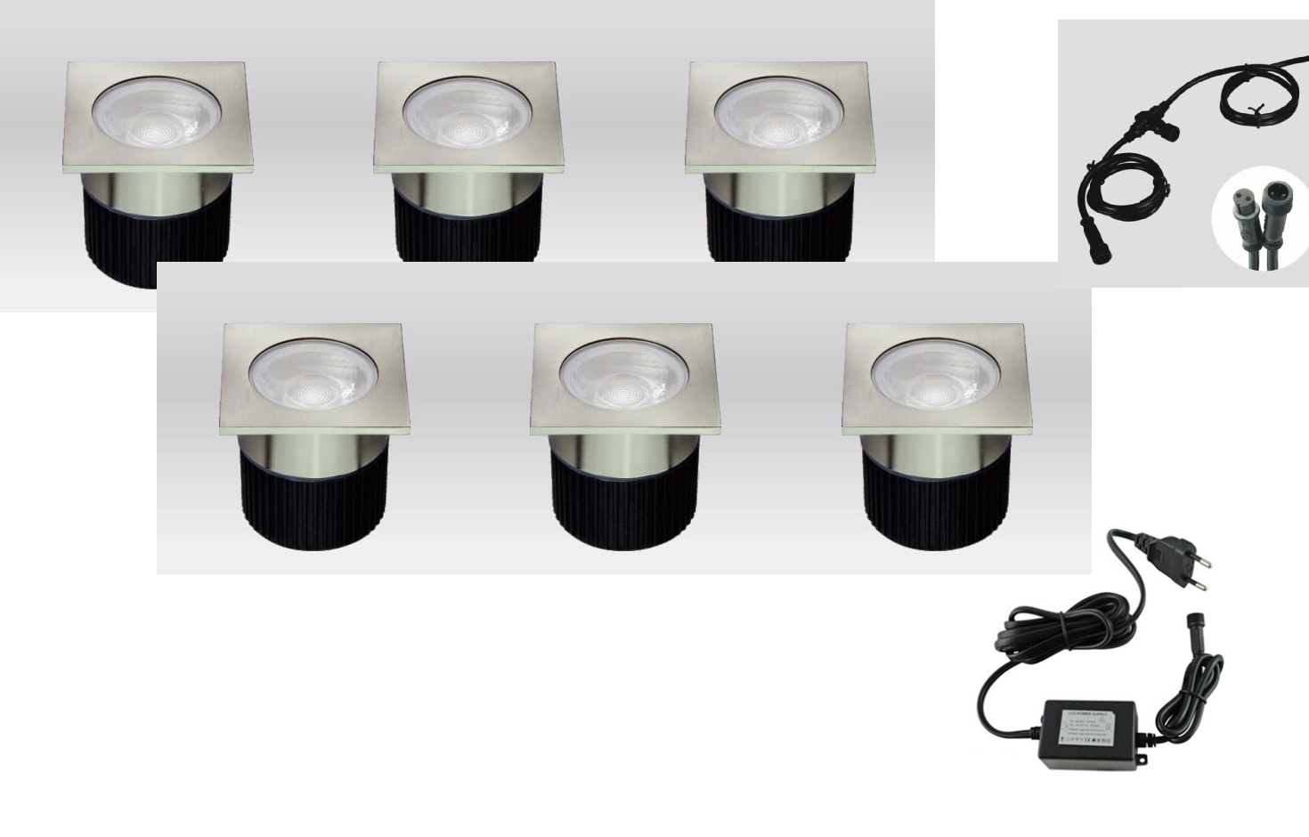 LEDw@re | LED Grondspot | 12 Volt | Rond | 6 x 4,5 Watt | Warm Wit | WSCF113WW006