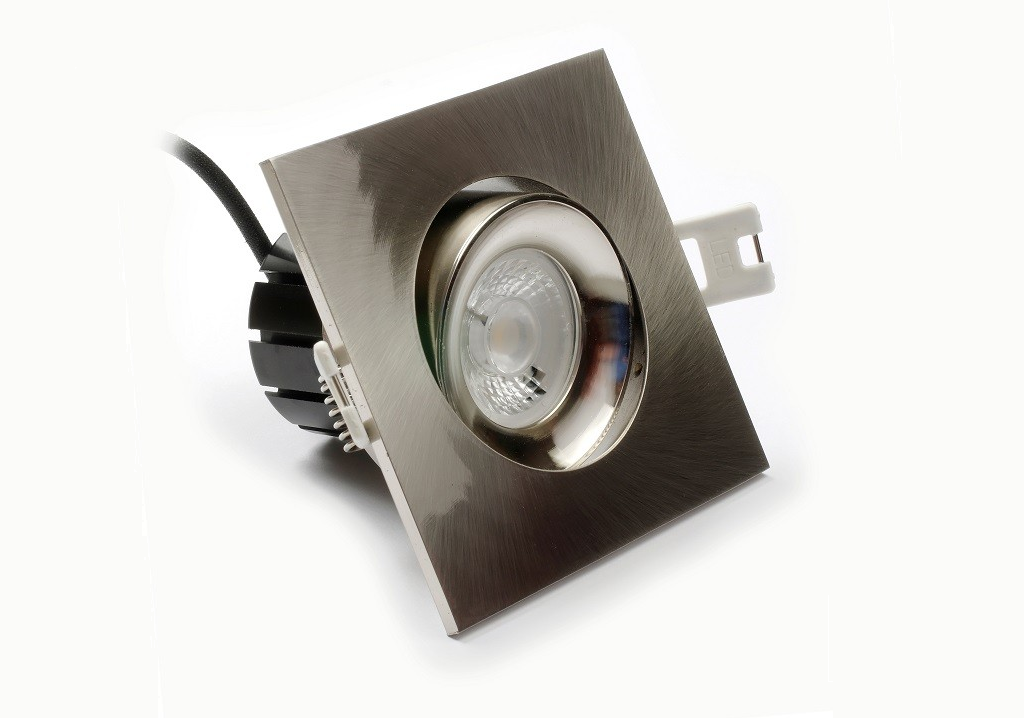 LEDware | LED inbouwspot | 1 LEDs | Vierkant | 8 W | Warm Wit | RVS | IP54