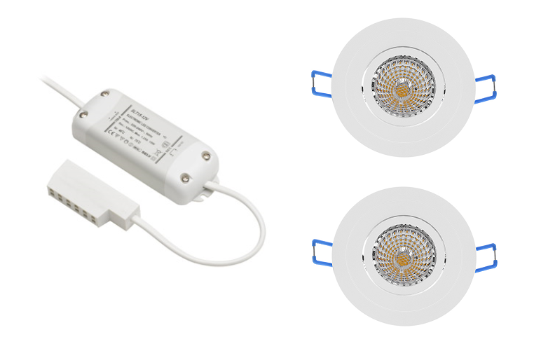BudgetLine | LED inbouwspot | 2 LED spots | 240 Lm | Doe Het Zelf LED Kit | Warm Wit | Ron
