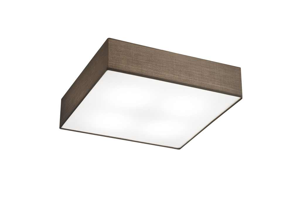 TRIO Plafonniere  / wandlamp | 4 x 6 Watt | 500 x 500 mm | LED EMBASSY | Bruin