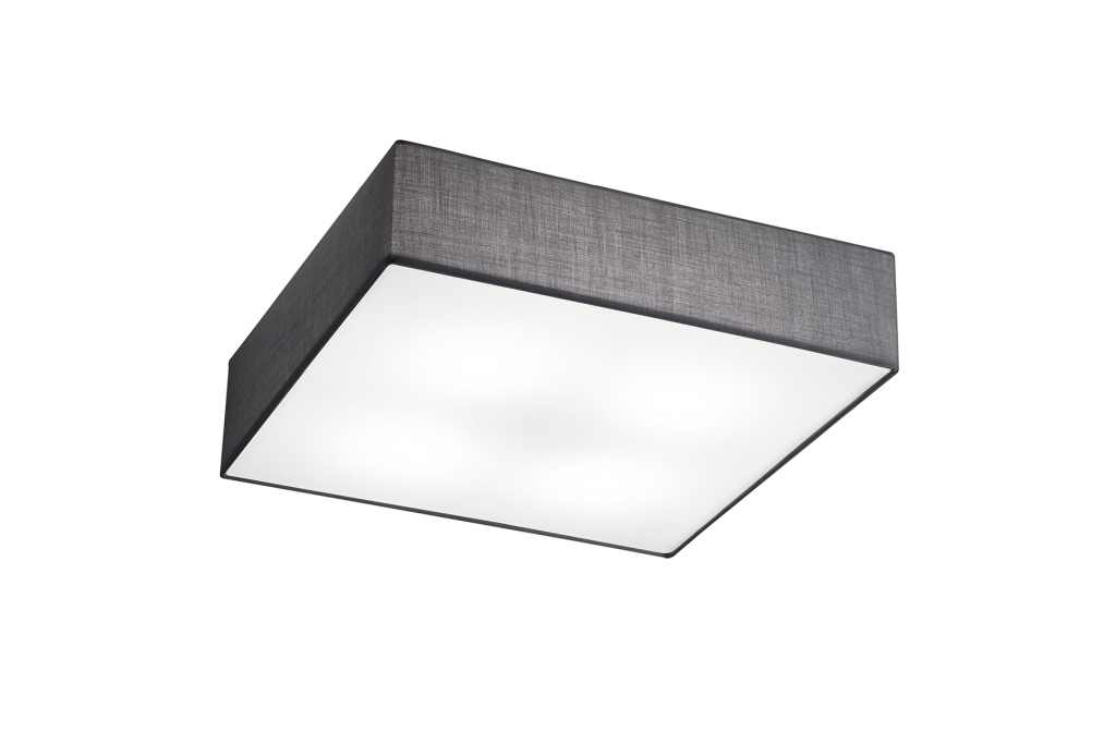 TRIO Plafonniere  / wandlamp | 4 x 6 Watt | 500 x 500 mm | LED EMBASSY | Grijs