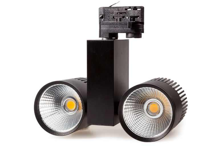 Tronix | 3 Fase | LED TRACKSPOT 2 x 30 Watt Black | Warm Wit | 3000k | 38 Graden