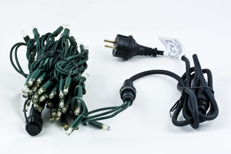 Cord Light Retail | 6m 60 LED | White LED | green wire | groene draad
