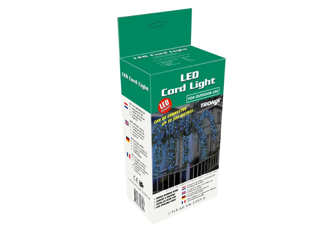 Cord Light Retail | IP20 | 6m 60 LED | WW LED | groene draad