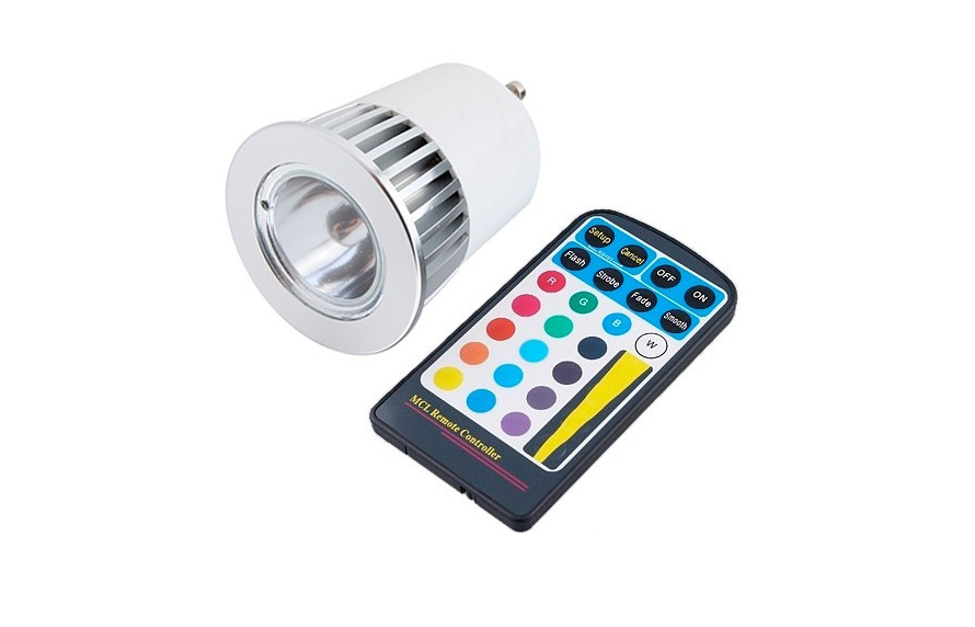LED Lamp | 230 Volt | 5 Watt | RGB | Gu10