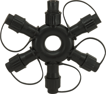 PS230 | 5 way ring connector | black