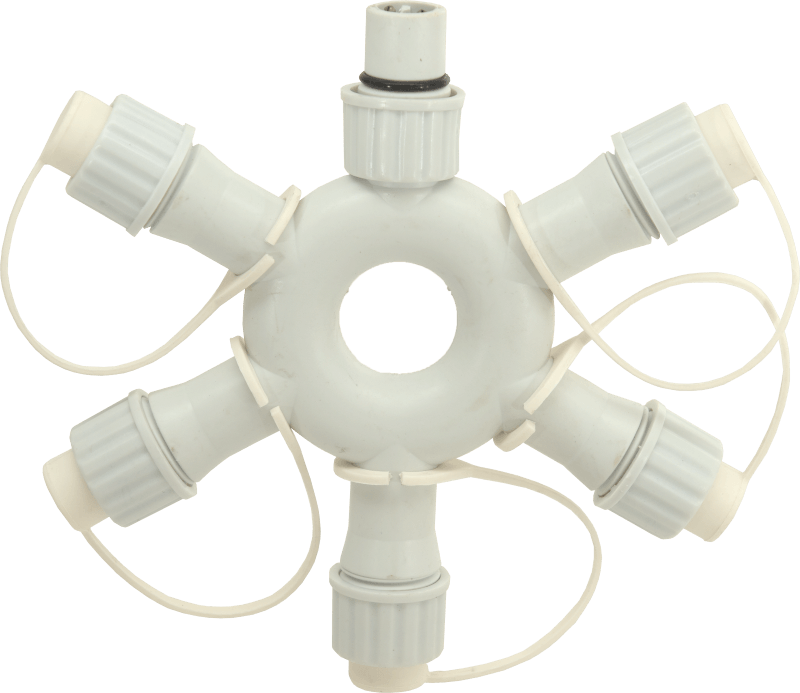 PS230 | 5 way ring connector | white