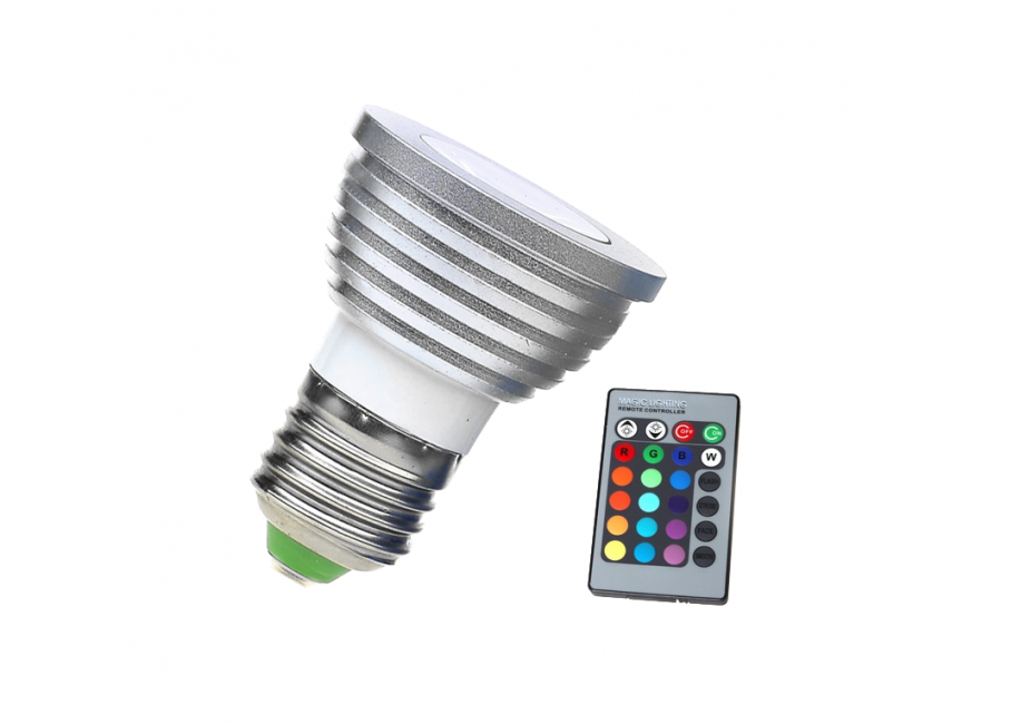 LED Lamp | 230 Volt | 3 Watt | RGB | E27